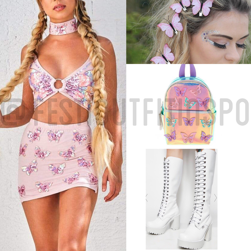 Coachella Butterfly Outfit