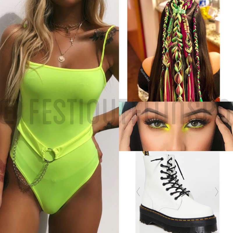 neon rave outfit