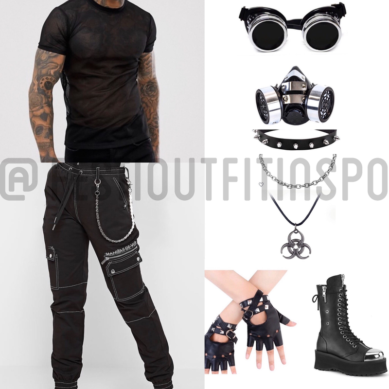 mens rave outfit