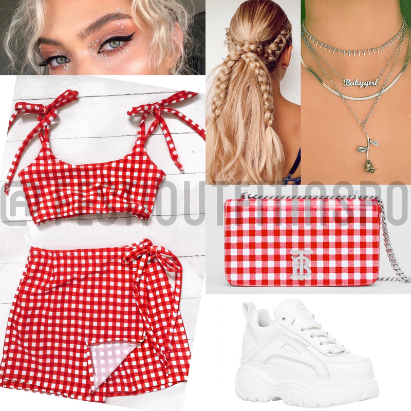 Red Gingham Outfit