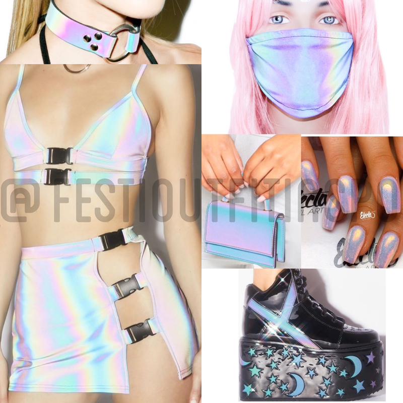 reflective rave outfit